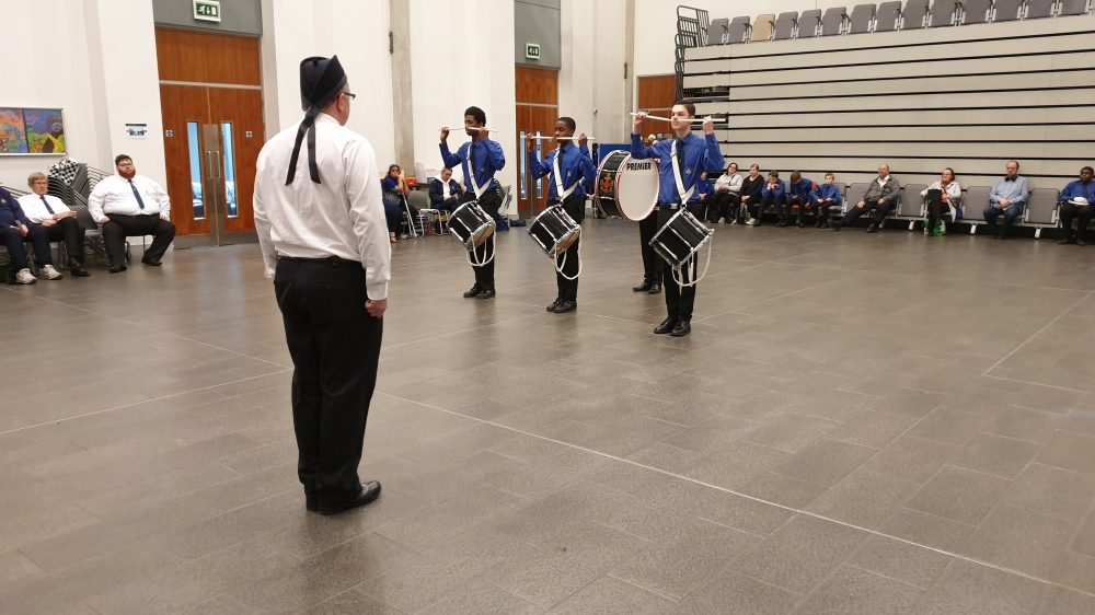One of our volunteers judging at the London band competition.