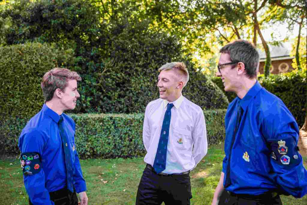 Three of our young volunteers having a conversation whilst on KGVI